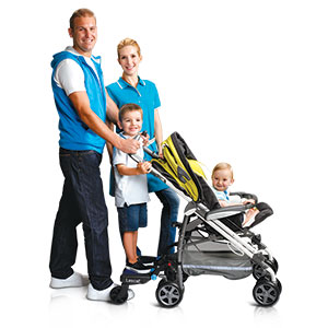 BuggyBoard Maxi Family with 2 kids